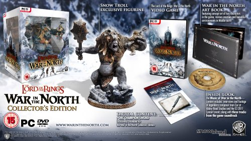 Lord of the Rings War in the North Collector's Edition (PC Game) with Snow Troll Figurine and More (Lord Of The Ring War In The North)