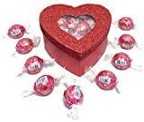 Valentine's Day Glitter Heart Box Filled w/ Lindor Truffles, Medium Deal (Small Image)