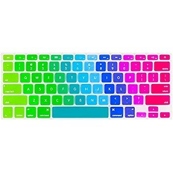 Amazon.com: Kuzy - Newest Rainbow Keyboard Cover Silicone Skin for MacBook Pro 13