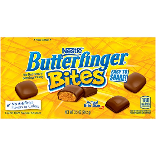 Butterfinger Chocolate Peanut Buttery Candy Bites, 3.5 Ounce Video Box (Pack of 9) (Sized Bite Desserts)