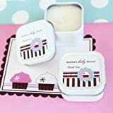 Personalized Square Candle Tins - Cupcake Party - Total 96 items