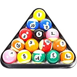 Domybest Billiard Ball Racks Plastic 8 Ball Pool Billiard Table Rack Triangle Rack Standard Size