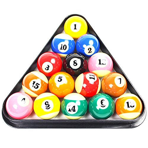 Domybest Billiard Ball Racks Plastic 8 Ball Pool Billiard Table Rack Triangle Rack Standard Size