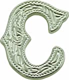 Springfield Leather Company's Alphabet Letter Concho, C (Shiny Nickle/Silver)