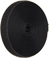 "VELCRO 1003-AP-PB/H Black Nylon Woven Fastening Tape, Standard Back Sew-On Hook Only, 3/4"" Wide, 15' Length"