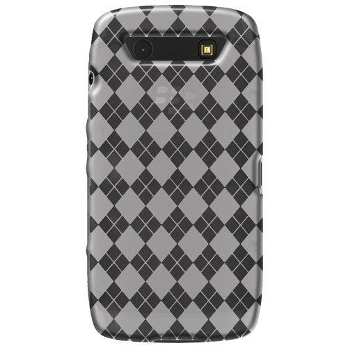 Amzer Luxe Argyle - Carcasa para BlackBerry Torch 9850 (gel), diseño de rombos, transparente