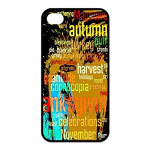 Special Designer Funny Quote Thanksgiving Silicon iPhone 4/4S Case, Snap on Protective Thanksgiving iPhone 4/4S Case