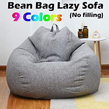 Prime Bazgo Large Bean Bag Chairs Sofa Cover Solid Color Simple Design Seat Recliner Outdoor And Indoor Lazy Lounger For Adults And Kids With No Filling Ibusinesslaw Wood Chair Design Ideas Ibusinesslaworg