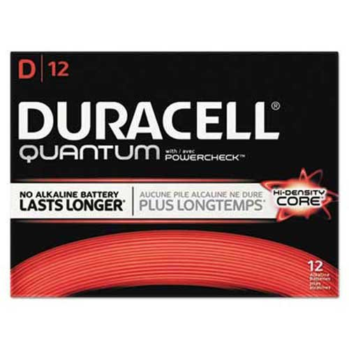 Duracell Quantum Alkaline Batteries with Duralock Power Preserve Technology, D, 72/Pk by Duracell