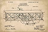 Wright Brothers Airplane Patent Art Poster Print
