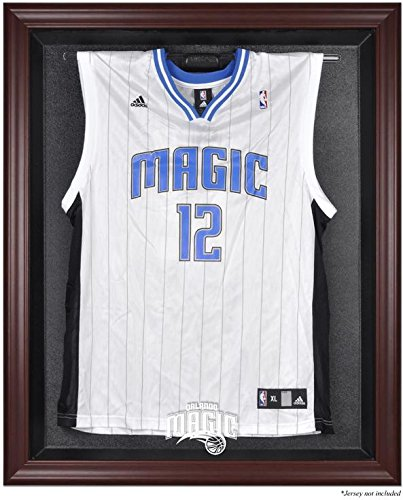 Orlando Magic Mahogany Finished Logo Jersey Display Case by Sports Memorabilia