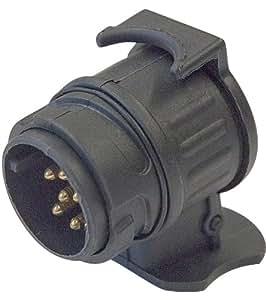 Cartrend 80115 - Adaptador para enchufe de remolque 13 a 7 pines (13 V, ISO 1724, DIN 11446)