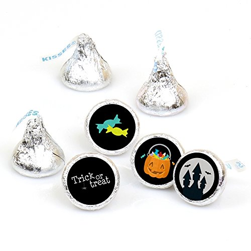 Trick or Treat - Round Candy Halloween Party Sticker Favors – Labels Fit Hershey's Kisses (1 sheet of 108)