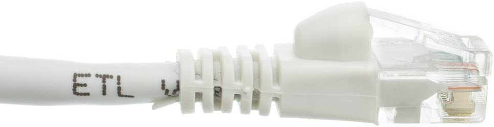 2 Feet eDragon Cat6 Snagless//Molded Boot Ethernet Patch Cable White