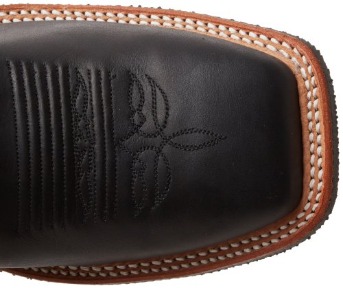 Justin Boots Mens Bent Rail Boot Nero Chester / Red Crackle