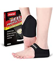 Adjustable Heel Protectors,Heel Sleeve Inserts,Heel Cups for Plantar Fasciitis, Heel Cushion for Achilles Tendonitis Bone Spur Aching Feet Relieve Heel Pain.
