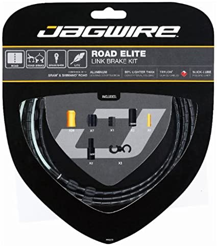 Jagwire Road Elite Link Brake Cable Kit SRAM//Shimano Ultra-Slick Black