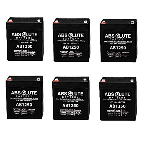 - 6 Pack New AB1250 12V 5AH SLA Replacement Battery for Tandy/Radio Shack 23-289A