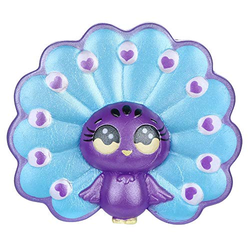 Wffo Squishies Adorable Cartoon Peacock Slow Rising Fruit Scented Stress Relief Toys (B)