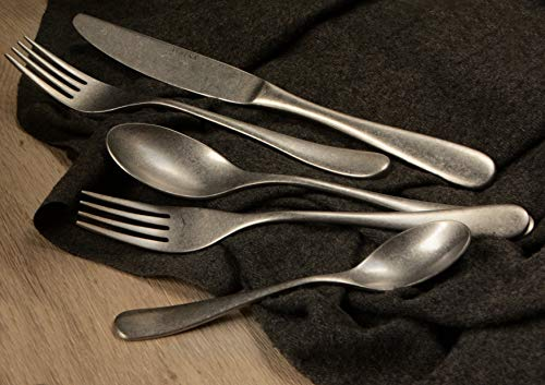 Athena Flatware 20-pcs Set Royce 18/10 stainless steel vintage finished service for 4 persons ()