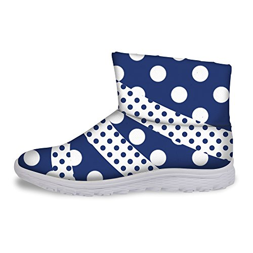 Flat Dots Girls Warm Boots U Colorful Dark DESIGNS Waterproof FOR Blue Stylish Women Winter Snow 0YzICq
