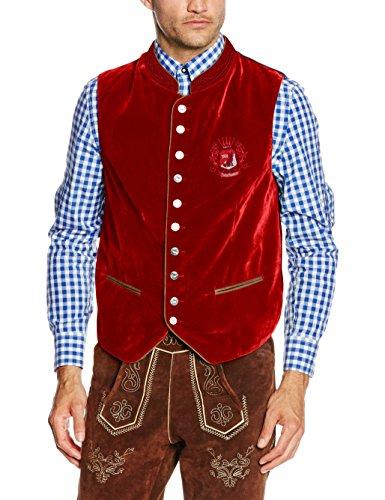 Fuchs Trachtenmoden Herren Trachtenweste, Rot (Rot), 50