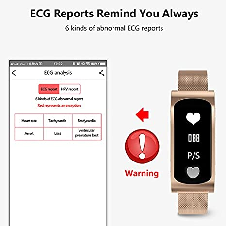 Most Accurate Fitness Tracker >> Amazon Com Bond Smart Wristband Blood Pressure Heart Rate Monitor