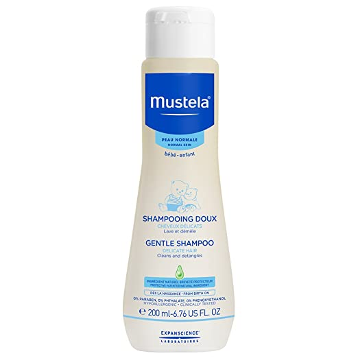 Mustela Gentle Shampoo, Tear-Free Baby Shampoo with Natural Avocado Perseose, 6.7 Fl. oz.