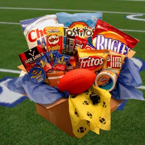 Football Gift Touchdown Kick-Off Sports Gift Baskets Associates Care Package (Sports Care Package)