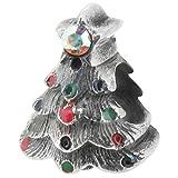 Zable Sterling Silver Christmas Tree Bead / Charm