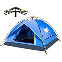 Night Cat Camping Tent 2 3 4 Person Easy Instant Pop Up...