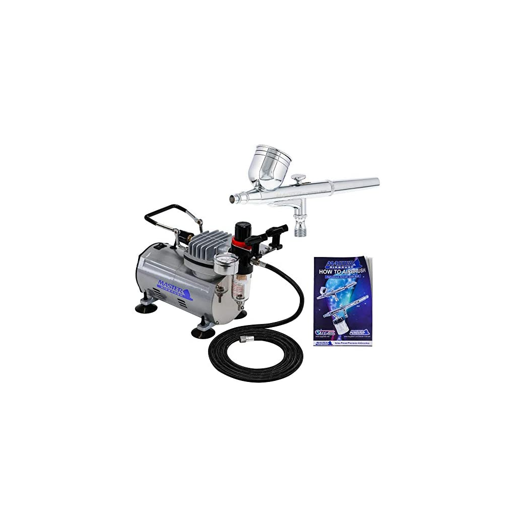Master Airbrush Multi-Purpose Gravity Feed Dual-Action Airbrush Kit