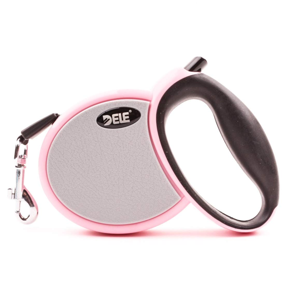 Pink 3M Pink 3M Souliyan Retractable Dog Leash, Walking Jogging Training Leash Tape for Small Medium Dog Hand Grip One Button Brake & Lock (color   Pink, Size   3M)