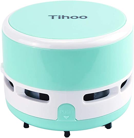 iSuperb Miniaspirador, Aspiradora de Sobremesa Portátil, Mini Mesa Sweeper Inalámbrico para Migas/Escombros/Cenizas/Scraps Limpiador/Desktop Vacuum Cleane/Sin Batería Incluida (Azul): Amazon.es: Hogar
