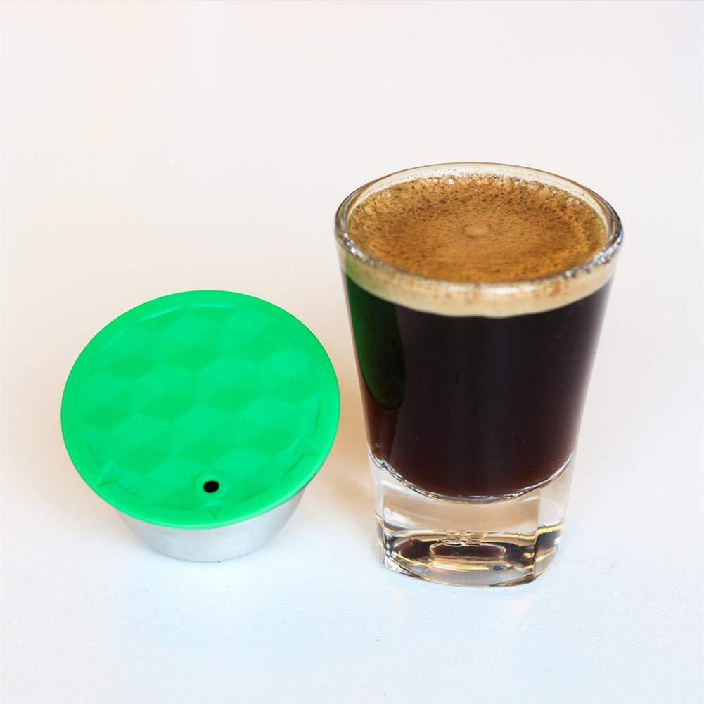 longrep Filtros De Cafe Capsula De Cafe Filtros De Caf/é Acero Inoxidable Reutilizable con Cuchara De Caf/é Pincel De Caf/é Pis/ón para La M/áquina De Caf/é Dolce Gusto.