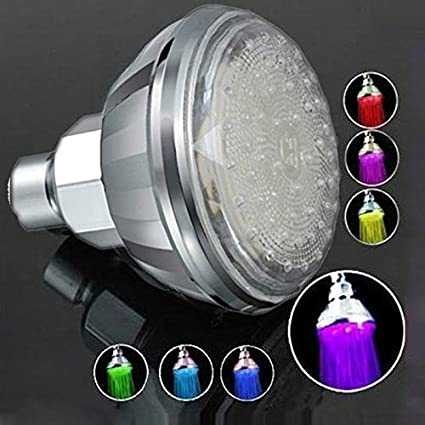 Amazon.com: LED Rain Shower Head Facut Romantic Automatic 7 ...