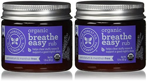 The Honest Company Organic Breathe Easy Rub, 1.8 Ounce (Pack of 2) by The Honest Company