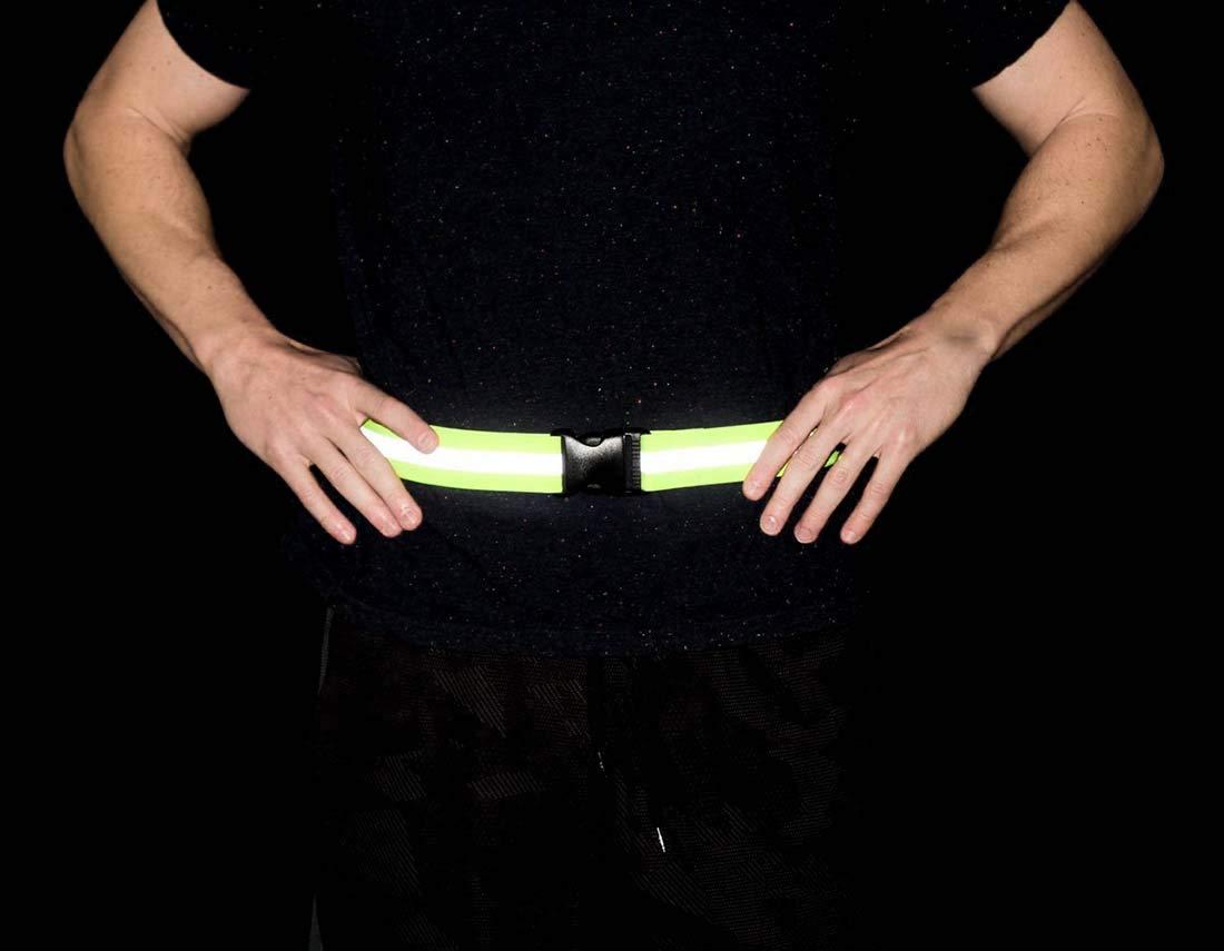TeeYee Unisex Fluorescent Reflective Safety Belt Elastic Adjustable Belt for Riding//Running//Driving Pack of 2