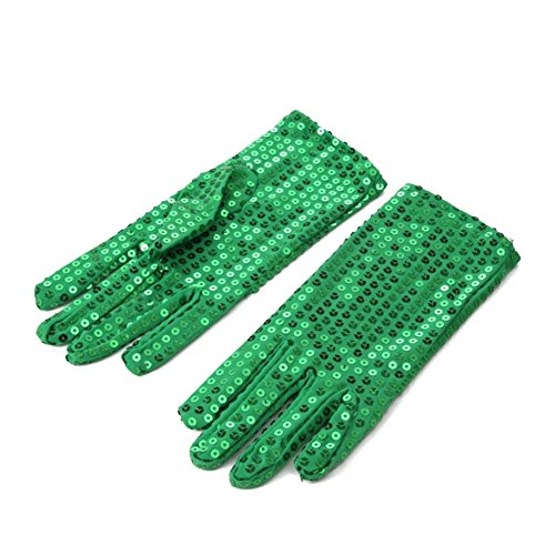 1 Pair Michael Jackson Costume Dress up Dance Sequin Gloves for Cosplay Party Dance Halloween (Sequin Gloves)