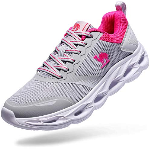 CAMEL Running Shoes Walking Sneakers Women - Tennis Shoes Slip on Mesh Lightweight Breathable Gym Shoes