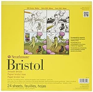 "3M STR-342-12 24 Sheet Strathmore Smooth Bristol Pad, 12 by 12"""