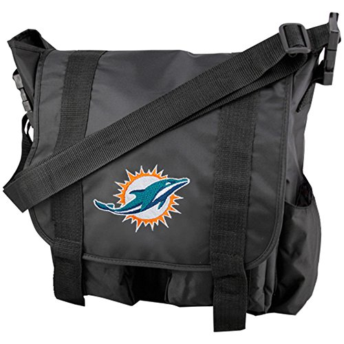 Concept One NFL Miami Dolphins Team Logo Diaper Bag with Changing - Miami Dolphins Applique