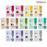 Facial Mask Green - DERMAL Collagen Essence Full Face Facial Mask Sheet (13 Green Combo Pack)