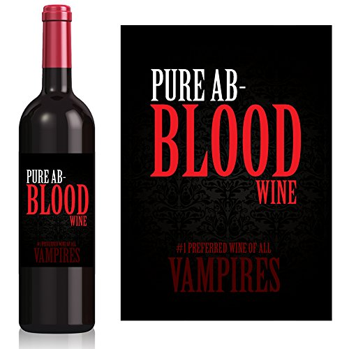 Halloween Blood Wine Labels - set of 4 - Exactly as shown -