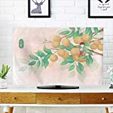 aolankaili tv dust Cover Cold Solar Term Illustration Dust Resistant Television Protector W30 x H50 INCH/TV 52''