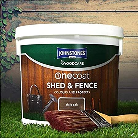 Johnstones Woodcare 9 Litres Shed Fence Paint Tub One Coat Garden