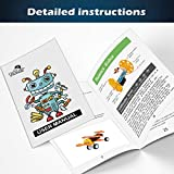 POKONBOY DIY Electric Motor Robotic Kits, STEM Toys Science Experiment Kits Engineering Science Project Kits for Boys and Girls-Doodling, Balance Car, Reptile Robot and Biplane