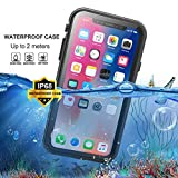 Waterproof Case for iPhone XR, Full Body Heavy Duty Rugged Case with Built-in Screen Protector Shockproof Dirtyproof Snowproof Waterproof Case for iPhone XR 6.1 inch 2018