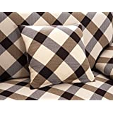 Free shipping Elastic sofa cover spandex fabric sofa cover stretch sofa slipcover Grid Style (2 pieces* Pillow Cover (45*45cm))