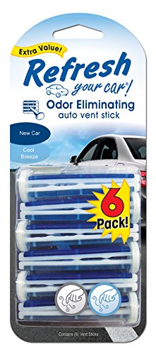 Great Deal! american covers inc 09413t Refresh, 6 Pack, New Car/Cool Breeze, Vent Stick